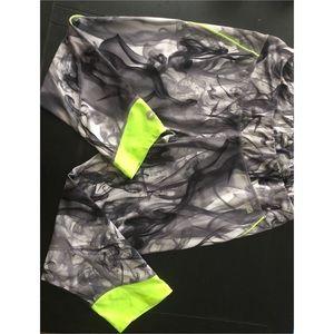 Avia smoke grey and neon green workout capris